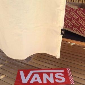 Vans Shirts - Vans Button Down Shirt Checkerboard Vans Logo